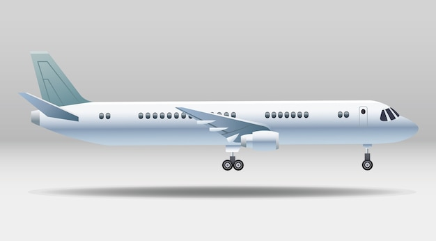 Icône isolé de transport avion blanc