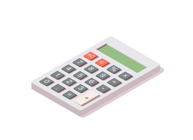 Icône isométrique de la calculatrice