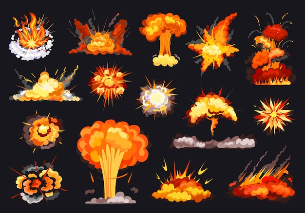 Icône de jeu de dessin animé d'explosion. illustration a explosé sur fond blanc. cartoon isolé jeu explosion d'icône.