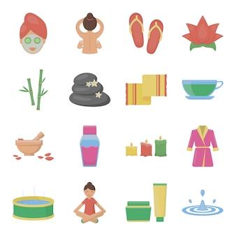 Icône de jeu de dessin animé de spa