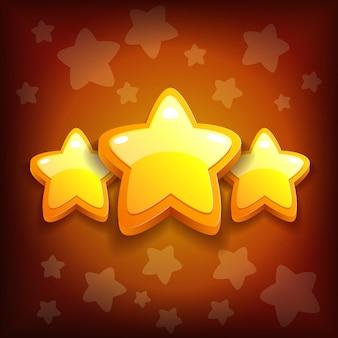 Icône de jeu félicitations étoiles