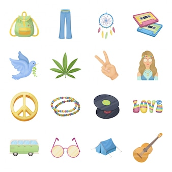 Icône de jeu heureux et dessin animé. icône de jeu de dessin animé de paix amour et fleur. fête de pâques .