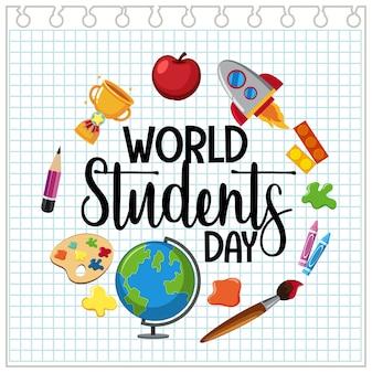 Icône de la journée mondiale des étudiants