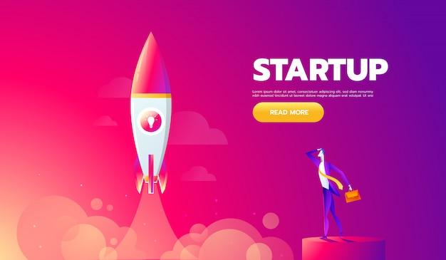 L'icône de lancement de fusée peut être utilisée pour illustrer des sujets cosmiques ou un démarrage d'entreprise