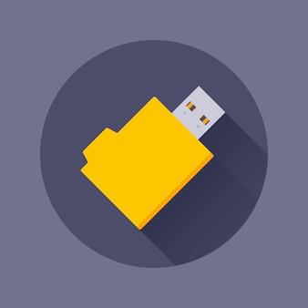 Icône de lecteur flash usb