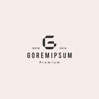 Icône de lettre g logo vectoriel