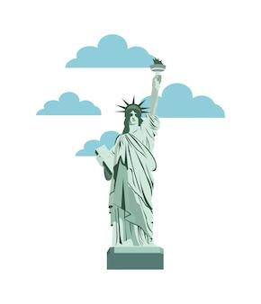 Icône de la liberté statue de new york icône isolé