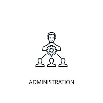 Icône de ligne de concept d'administration. illustration d'élément simple. conception de symbole de contour de concept d'administration. peut être utilisé pour l'interface utilisateur/ux web et mobile