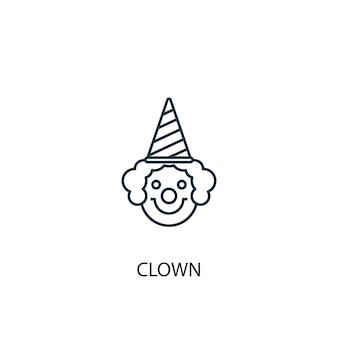 Icône de ligne de concept de clown concept de clown d'illustration d'élément simple