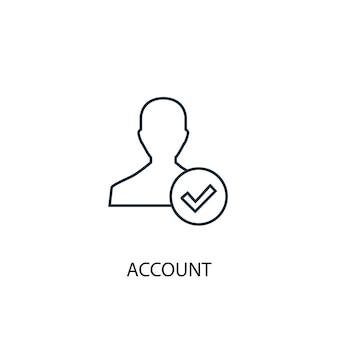 Icône de ligne de concept de compte. illustration d'élément simple. conception de symbole de contour de concept de compte. peut être utilisé pour l'interface utilisateur/ux web et mobile
