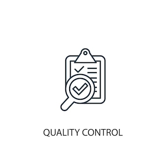 Icône de ligne de concept de contrôle de qualité. illustration d'élément simple. conception de symbole de contour de concept de contrôle de la qualité. peut être utilisé pour l'interface utilisateur/ux web et mobile