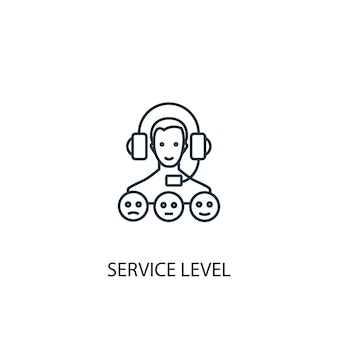 Icône de ligne de concept de niveau de service illustration d'élément simple symbole de contour de concept de niveau de service