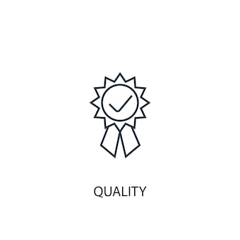 Icône de ligne de concept de qualité. illustration d'élément simple. conception de symbole de contour de concept de qualité. peut être utilisé pour l'interface utilisateur/ux web et mobile