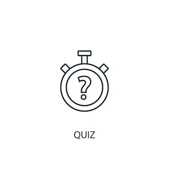 Icône de ligne de concept de quiz. illustration d'élément simple. conception de symbole de contour de concept de quiz. peut être utilisé pour l'interface utilisateur/ux web et mobile
