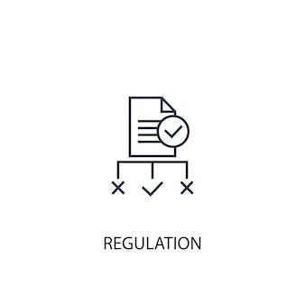 Icône de ligne de concept de réglementation. illustration d'élément simple. conception de symbole de contour de concept de réglementation. peut être utilisé pour l'interface utilisateur/ux web et mobile