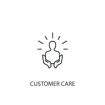 Icône de ligne de concept de service client. illustration d'élément simple. conception de symbole de contour de concept de service client. peut être utilisé pour l'interface utilisateur/ux web et mobile