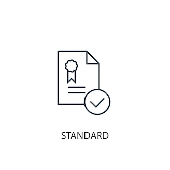 Icône de ligne de concept standard. illustration d'élément simple. conception de symbole de contour de concept standard. peut être utilisé pour l'interface utilisateur/ux web et mobile
