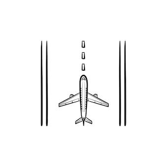Icône de ligne de piste d'aéroport