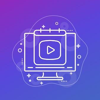 Icône de ligne de plan de contenu pour le web
