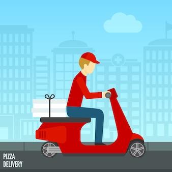 Icône de livraison de pizza