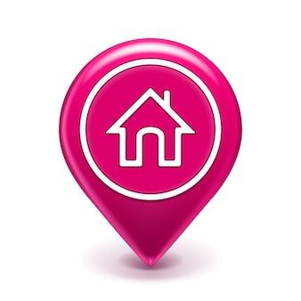 Icône de localisation de domicile isolée