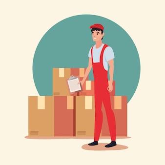 Icône logistique de livraison rapide