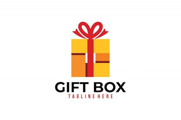 Icône de logo de boutique de cadeaux vecteur isolé