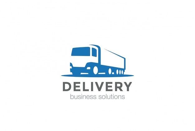Icône de logo de camion de livraison