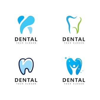 Icône de logo dentaire design vector