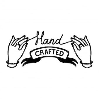Icône ou logo fabriqué à la main