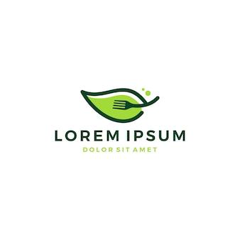 Icône de logo de fourche de feuille télécharger