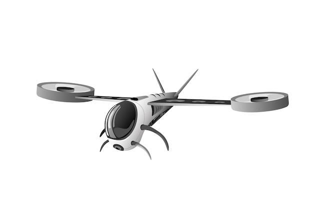 Icône de logo isolé quadrocopter drone flying air