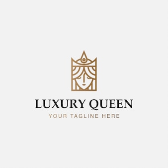 Icône logo minimaliste de la reine du luxe