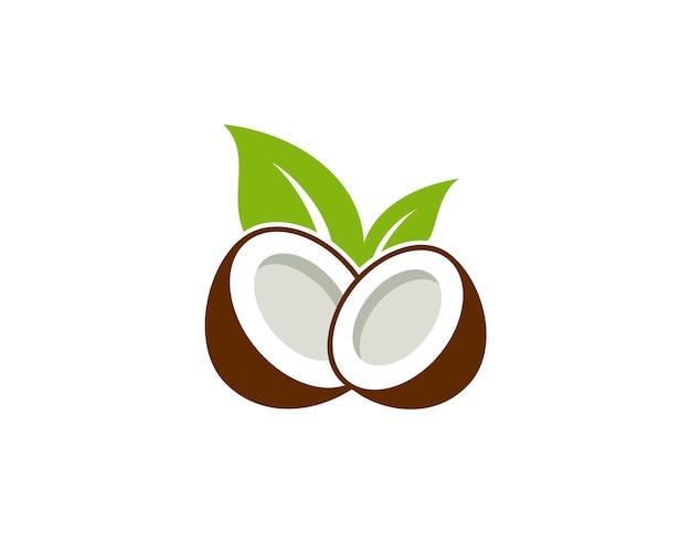 Icône de logo de noix de coco