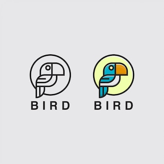 Icône logo avec oiseau
