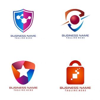 Icône et logo de sécurité cyber