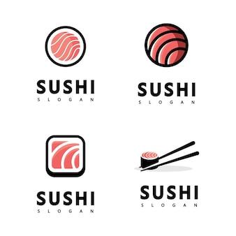 Icône logo vector icon style illustration bar ou boutique, sushi, rouleau de saumon onigiri, objet minimaliste isolé