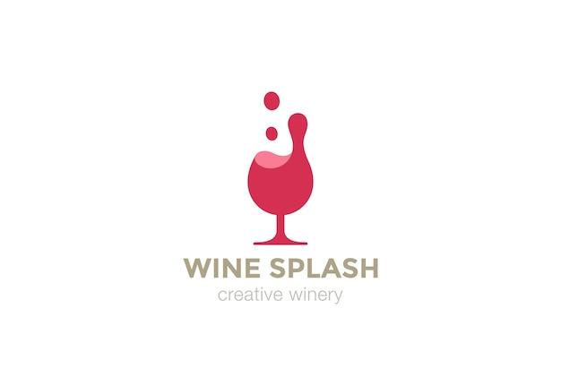 Icône de logo de verre à vin.