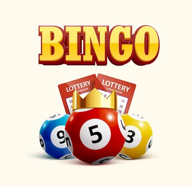 Icône de loterie objets réalistes eps 10