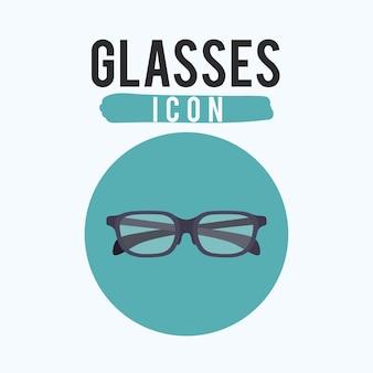 Icône de lunettes noires