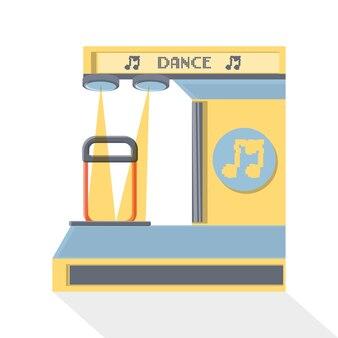 Icône de machine d'arcade de danse