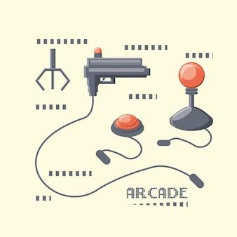 Icône de machine de jeu vidéo d'arcade
