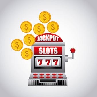 Icône de machine à sous jackpot