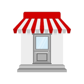Icône de magasin ou de magasin au design plat