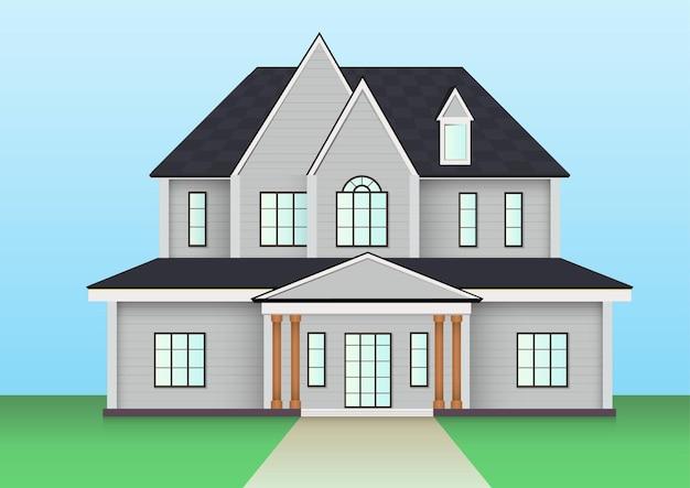Icône de maison de ferme américaine. illustration vectorielle