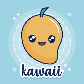 Icône de mangue kawaii