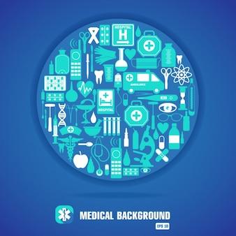 Icône médicale ensemble