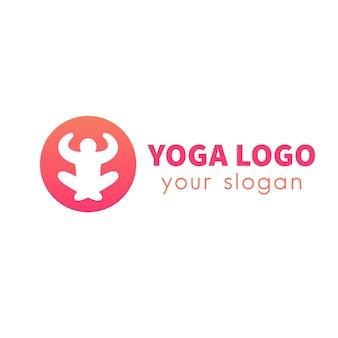 Icône de méditation, symbole vecteur yoga isolé sur blanc