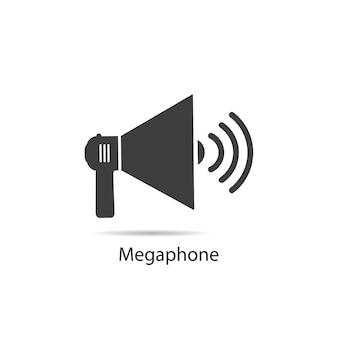 Icône de mégaphone