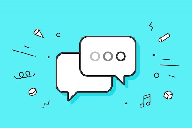 Icône de messages de dialogue